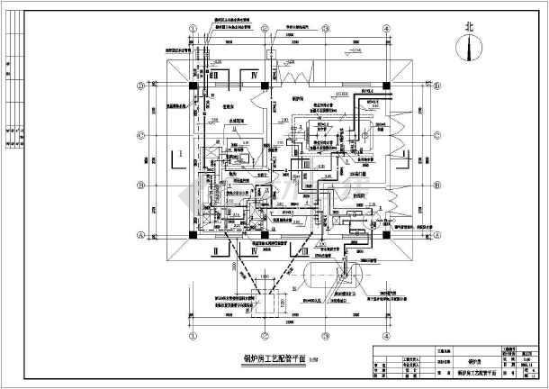 某燃油锅炉房设计图纸图片