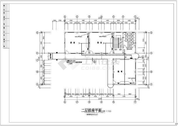 某学校三层大楼电气设计图纸,含电气设计说明