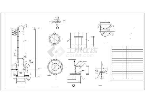 某45米钢烟囱结构设计图图片