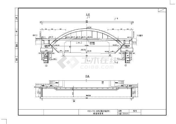 36m中承式悬链线钢筋砼实际(共36张图纸)图纸施工施工按照拱桥未人图片