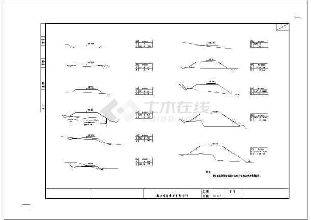 36m中承式悬链线拱桥砼图纸(共36张图纸)cad幅比例钢筋图图片