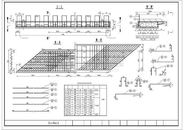桥梁6m标准板梁通用设计图(25张)