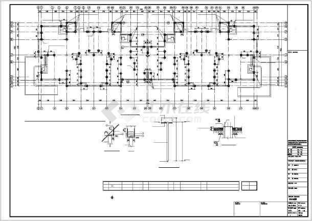 [江苏]保障性住房桩筏基础结构图