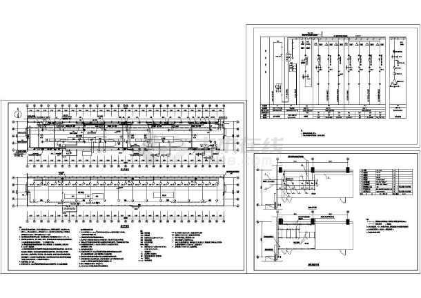 钢结构工业厂房图纸设计cad电气,含图纸设计旋流器照明各种规格图片