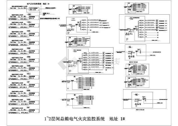 图纸图纸设计监控cad火灾(32台TCS01探测器29642964ss64296429ee64hd电气图片