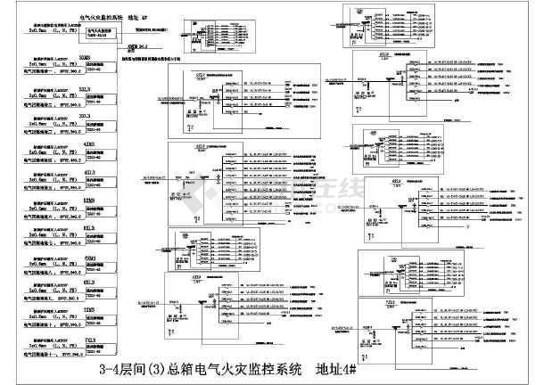 花朵图纸设计监控cad大班(32台TCS01探测器电气折纸图纸火灾图片