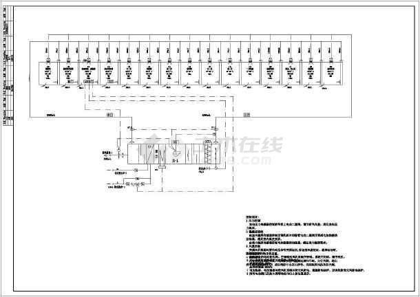 电子厂房暖通系统设计cad图纸