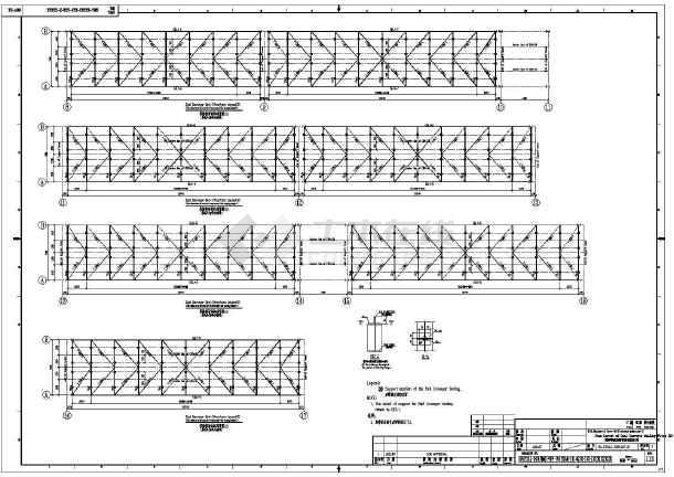 钢结构栈桥v栈桥版面(全套)图纸一般设计图图片