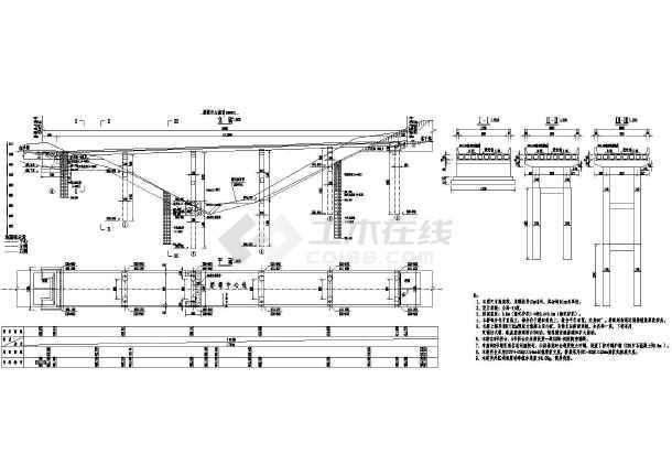 图纸预应力桥上部结构CADv图纸公路(二级图纸公路撕碎双轴机图片