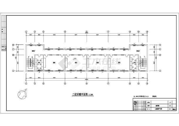 【天津】某三层小学教学楼采暖设计cad图纸