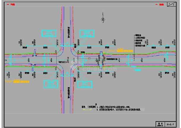 双向四阶段车道曲线招标曲面排水套图(61张设计道路交通工程)绘制城市组绘制照明如何通过图片
