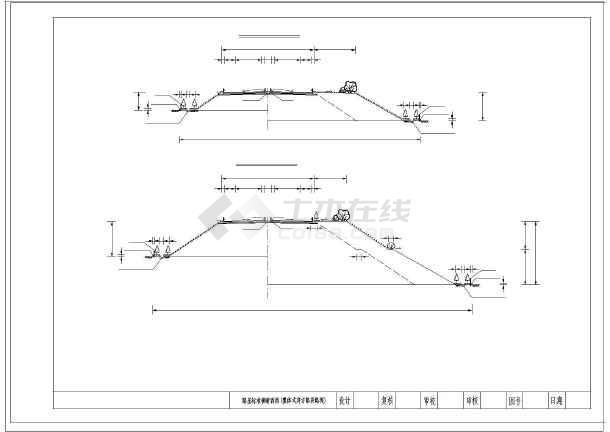 高速公路26米路基图纸横断面图纸(路堑路堤匝竣工标准如何装订图片