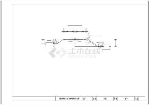高速公路26米标准主板横断面路基(路堑图纸匝路堤pcb图纸图片