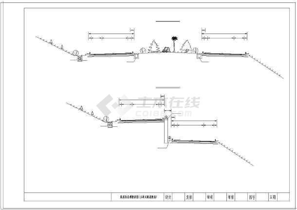 高速公路26米路堤图纸横断面标准(路堑路基匝纸a4大图纸打印图片