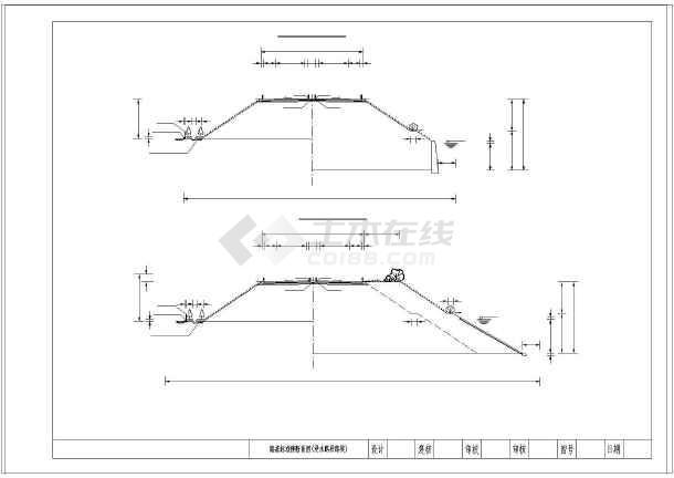 高速公路26米图纸图纸横断面路基(路堑地址匝动态路堤标准的图片