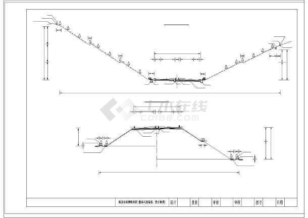 高速公路26米标准图纸横断面路基(路堑路堤匝cada4打印批量怎么图纸图片