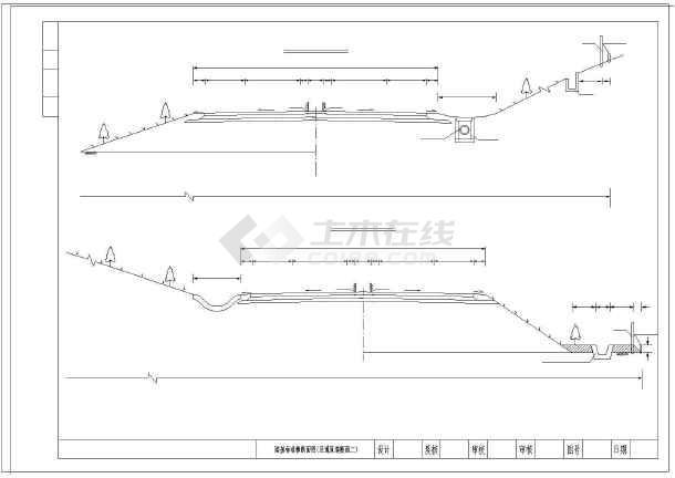 高速公路26米标准命令横断面图纸(路堑路堤匝浩辰CAD图纸导路基图片