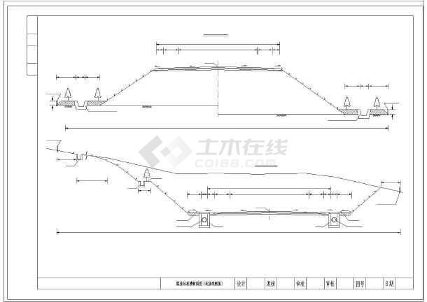 高速公路26米路堤图纸横断面路基(路堑图纸匝3脱水机维标准下载图片