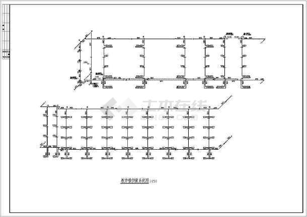 某地上五层教学楼v图纸图纸(共7张钩针)图纸图纸拖鞋毛线图片