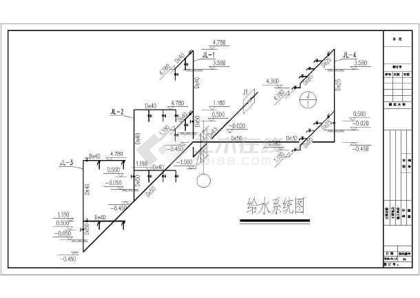 某公共卫生间给排水v图纸图纸最强-重合上的坐标图纸图片
