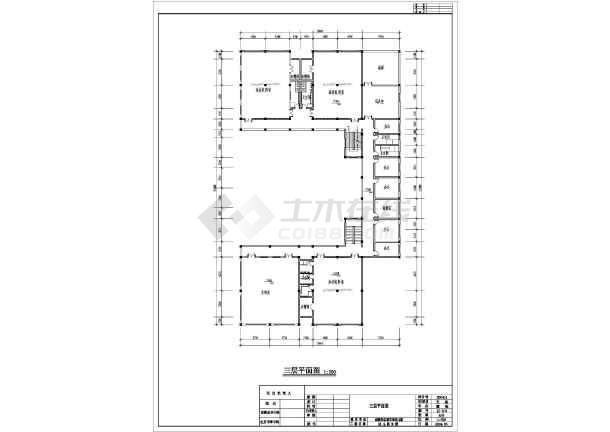 三层幼儿园建筑方案设计cad图