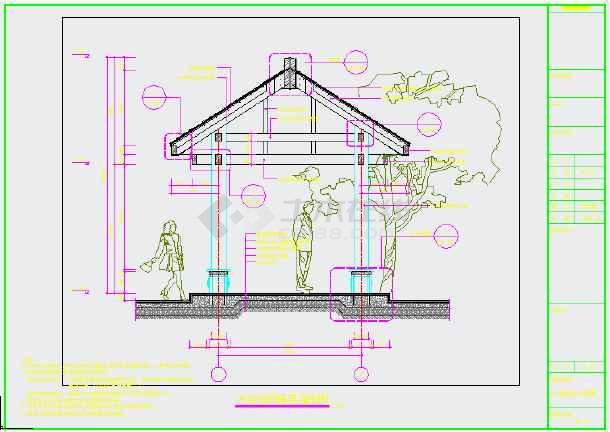 某木结构四角亭全套施工图(共10张图纸)