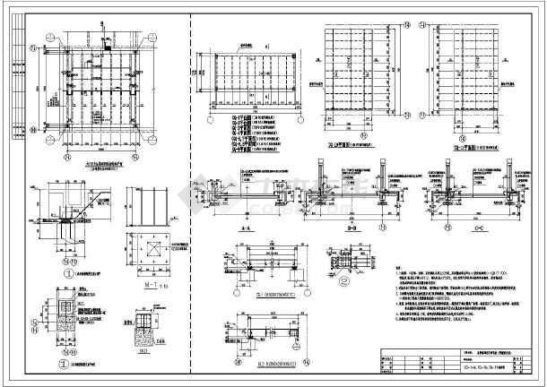 各单体间空中钢连桥结构图(带橡胶支座)