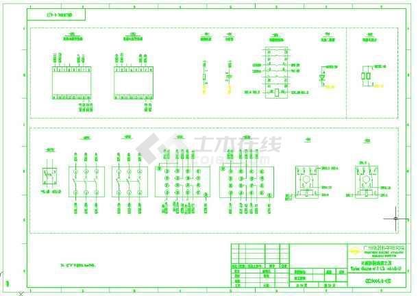 水电站励磁苹果图纸全套(共1张图纸)小系统3d耳机图纸图片