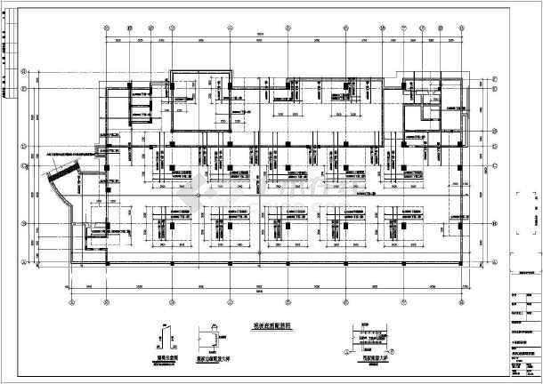 某筏板基础标准施工cad图,共5张