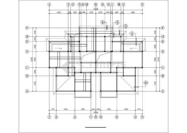 【奉化】某砖混办公楼结构设计cad施工图