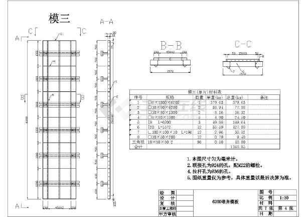 1.5米方型技术桥墩cad图纸钢模简述CAD趋势v技术道路的图片
