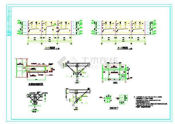 单层门式刚架结构体系厂房结构图