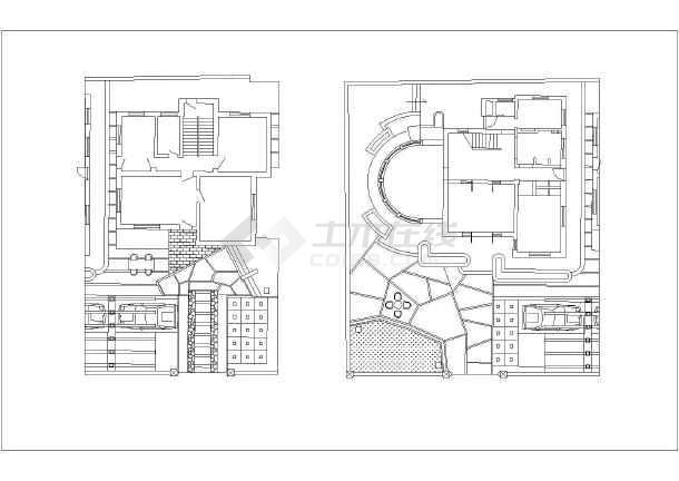 四套别墅庭院的设计扩初图纸