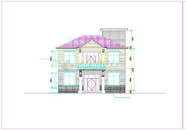 某二层别墅建筑设计施工图纸(自建房 建筑面积90平方米)