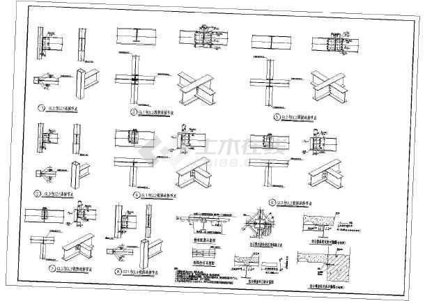 加层钢结构节点构造详图