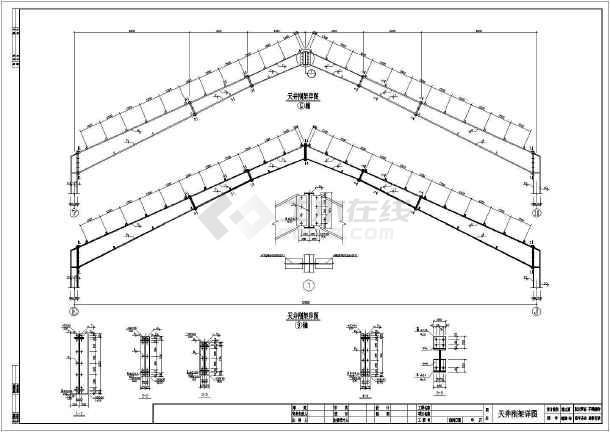 钢结构梁柱节点详图,共计7张图纸.