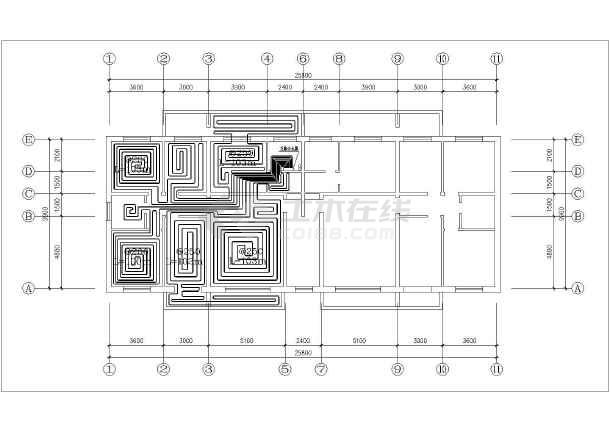 锅炉房别墅采暖辐射设计施工图欧式风格地板田园六合无绝对图片