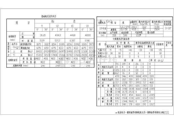 7736输电塔结构设计cad图