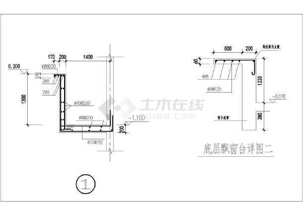 [节点详图]飘窗,空调板结构设计cad图