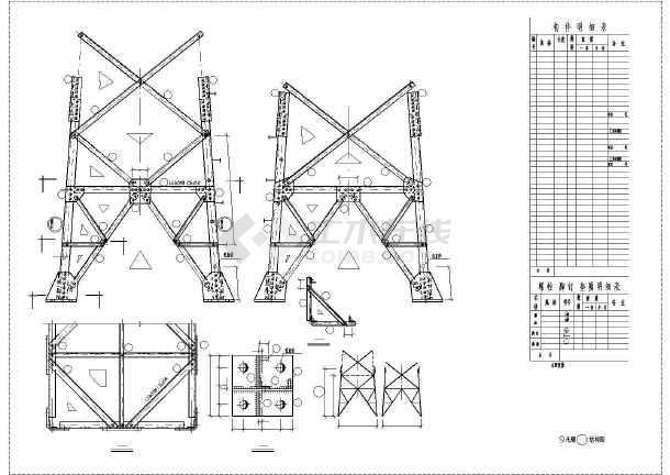 7729输电塔结构设计cad图