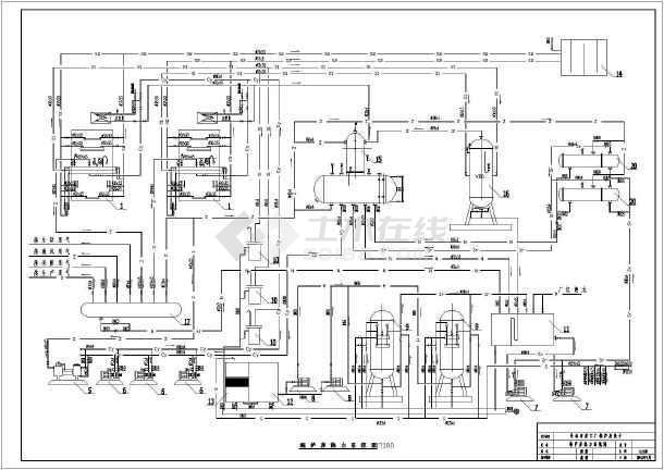 长春市某工厂锅炉房设计cad图.图片