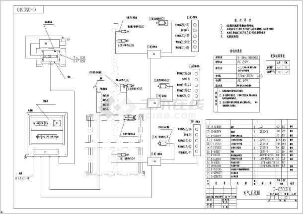 某厂家三层货梯电气设计cad图