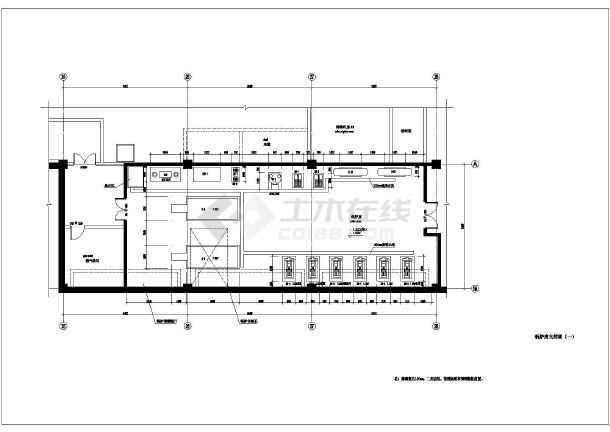 某大楼锅炉房设计cad图图片