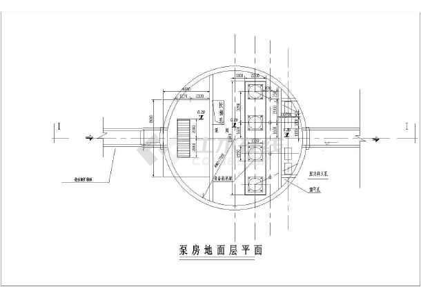 某雨水泵站设计cad图图片