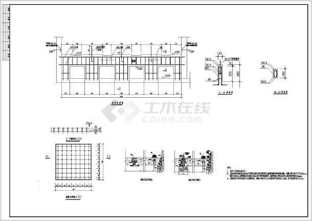 某自来水厂V型滤池图纸施工图查看如何cad的名称全套构件图片