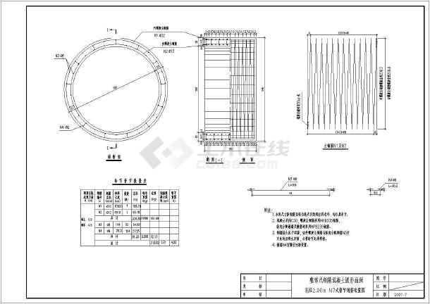 铁路工程2m孔径整体式圆管涵设计图(14张)