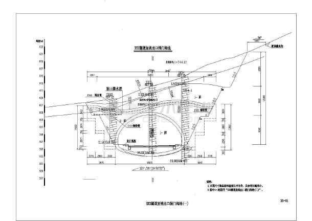 单向三车道隧道设计图(复线初步设计)