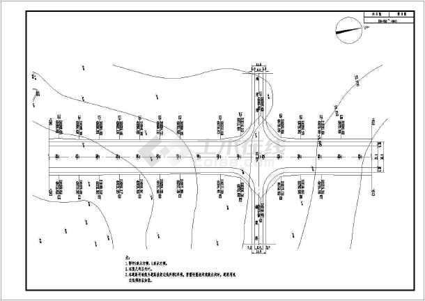 工程六双向市政道路车道施工图v工程104张CAcad外部快图片