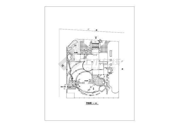 别墅景观设计cad图(建筑入口平面图)