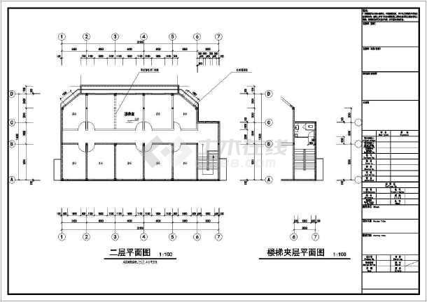 图纸结构图纸二层建筑中心建筑设计垃圾(不停cad打开框架后闪烁分拣图片